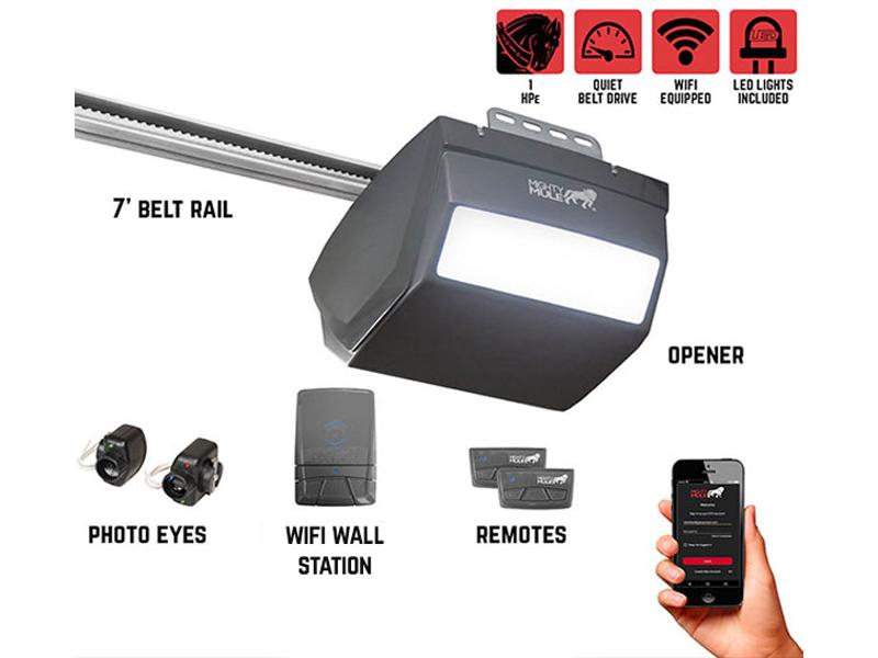 Mighty Mule MM9434K – 1 HPe Smart Garage Door Opener